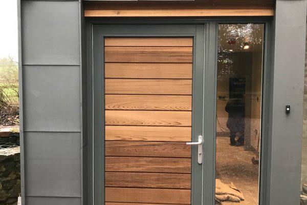 new cedar clad door